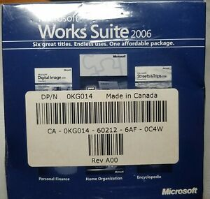 Microsoft Works Suite 2006 Software Brand New Sealed