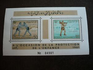 Stamps - Afghanistan - Scott# 502-503 - Souvenir Sheet