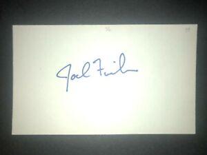 1979 RED SOX: Joel Finch, SIGNED 3x5 (BSJ)