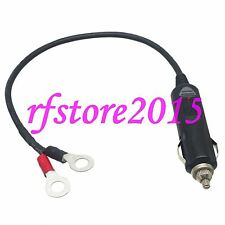 Car Cigarette Lighter Male to 8mm Ring Terminals 18AWG 1FT Wire for Power supply