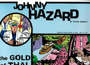 JOHNNY HAZARD  SET of 2 books 1954  Sundays    in color !!~!