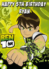 Ben 10 Personalised Birthday Card - Add your own name & age