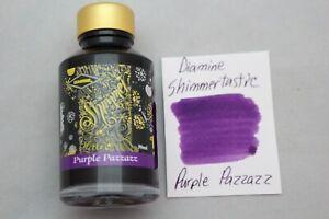 Diamine 50 ml Shimmertastic Fountain Pen Bottled Ink Purple Pazzazz