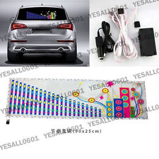 90*25CM  Car Music Sound Rhythm Light LED Sticker Activated Equalizer City