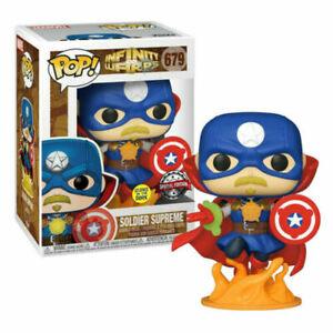 Funko POP! Marvel Infinity Warps: Soldier Supreme GITD EXC. FUNKO