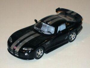 KINSMART Dodge Viper GTS-R w/ Pull Back & Go Action! Black w/ Silver Stripes!