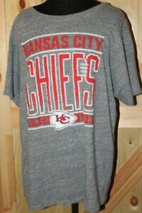Junk Food NFL Kansas City Chiefs Short Sleeve T-shirt gray 2017 XXL Nwt