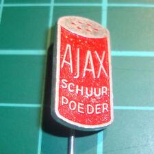 Ajax cleaning stick pin badge 60's lapel Dutch speldje Schoonmaakmiddel