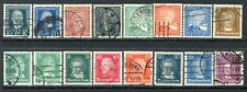 Germany Postage Stamps Scott 340-360, 16-Stamp Used Selection!! G1904