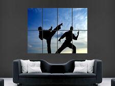 Sillouettes Karate Arte marcial impresión de imágenes De Pared Poster Gigante Grande Enorme
