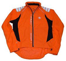 Polo Ralph Lauren RLX Mens Waterproof Running Full Zip Jacket Coat Orange Medium