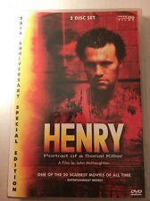 Henry Portrait of a Serial Killer 2 Disc DVD Used Free S&H Michael Rooker