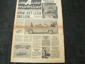 DE AUTO MOBILIST 1962 NO 9 BMW 700 LS,GOGGOMOBIL,KIP CARAVAN,SMIT LEYLAND,TRABAN