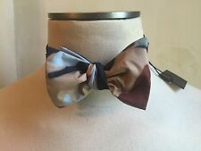 DSQUARED² CASUAL DRESS BEIGE BLUE BROWN CAMOUFLAGE BOW TIE S ONE SIZE PAPILLON