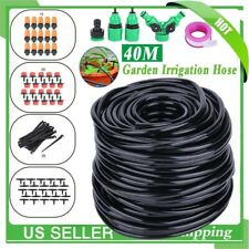 Micro 40M Water Irrigation System Garden Greenhouse Plants Watering Hose Kit
