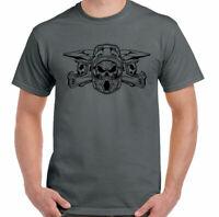 Motocross T-Shirt Helmet Skulls Mens Dirt Bike Scrambler MotoX Trial