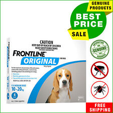 Frontline Original For Medium Dogs 10-20 Kg Blue Pack 4 Pipettes by Merial