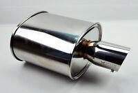 "Megan Racing Universal JDM Exhaust Muffler MO-E 2.5"" Inlet Stainless 3.5"" Tip"