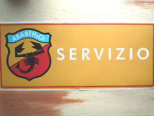 ABARTH SALES & SERVICE large Workshop Garage Sign Lightbox etc Classic Sticker