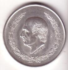 MEXICO: 5 Pesos plata 1953 Miguel Hidalgo y Costilla S/C