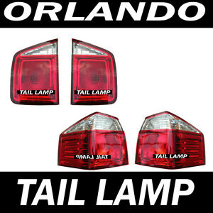 Rear Tail Lights Lamp Assembly 4P 1Set For 2011 2015 Chevy Orlando 4d