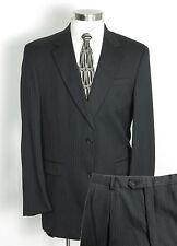 AUSTIN REED Suit 44L Charcoal Pinstriped - 100% Wool - Pants W35 x L31 $495