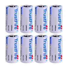8pc TrustFire CR123A 16340 1400mAh 3.0V Non-Rechargeable Li-ion Battery From USA