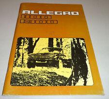Instrucciones Servicio Manual Owner's Austin Allegro 1100 1300 , Stand 1975
