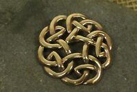 Brosche Fibel Bronze Keltische Knoten groß Kelten Bronzeschmuck Anhänger