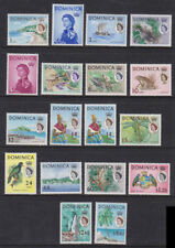 Dominica 1963-65 Mint MLH Full Set 17v +1 Definitives Local Scenes Parrot Ships