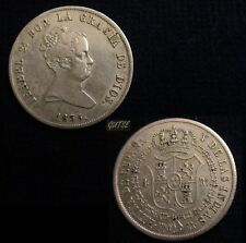 *GUTSE*648-ISABEL II, 4 REALES 1835, MADRID CR, ESCASA, CASI EBC