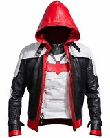 Batman Arkham Knight Game Red Hood Leather Jacket & Vest Costume -BNWT