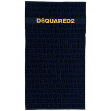 Dsquared2 beach towels men D7P002450300 Blue lagoon cotton