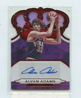 ALVAN ADAMS 2018-19 Panini Crown Royale Red Die-Cut Auto Autograph #D /49 SUNS