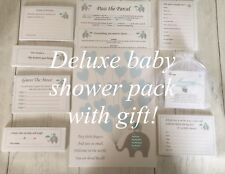 Boys Baby Shower Pack, Kit, Games, Gift, Invitations, Up to 20 Guests! Blue #BS