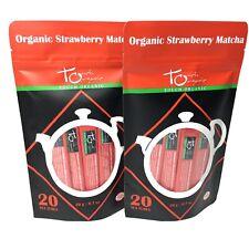 2- Organic Green Tea Matcha 20 Tea Tubes Per Package Strawberry Matcha