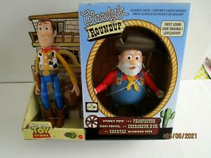 DISNEY PIXAR TOY STORY 2-STINKY PETE THE PROSPECTOR & WOODY-WOODY'S ROUNDUP-NEW