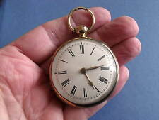 GOLD PLATED VERGE POCKET WATCH 'HOGAN, LONDON, AD1822' - SPARES OR REPAIR