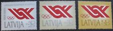 Olympic committee symbol stamps, 1991, Latvia, 3 stamp set, SG ref: 342-344, MNH