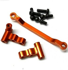 580003 1/16 Scale Alloy Upgade Servo Saver Set Complete 1 Set Orange