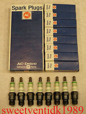 'NOS' AC-R45T Spark Plugs......4 Green Rings......GM Vehicles...etc