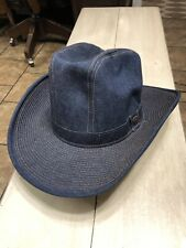 Vintage Levis Denim Western Blue Jean Cowboy Hat 7 1/4 USA Made VTG Rare Hat