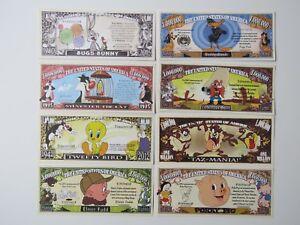 8 Fun Cartoon $1,000,000 Bills: Bugs Bunny,Daffy Duck,Elmer Fudd,Taz,Tweety Bird