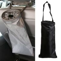 Car Seats Headrest Back Trash Litter Bags Washable Hanging Garbage Can Organizer