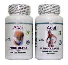2 Acai Pure Cleanse Diet Pills Detox Slimming Weight Loss Tablets Colon Cleanser