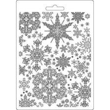 Soft Mould-STAMPERIA-flexible Gießform-A5-Schneeflocke-Snowflakes-K3PTA556