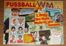 Seltene Werbung Panini FUSSBALL WM '86 MEXICO Sammelbilder Gewinnspiel 1986