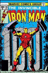 "IRON MAN #100 COMIC BOOK COVER 11""x17"" POSTER PRINT"