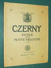 Partition Piano 24 petites études de la vélocité Op. 636 CZERNY Heugel