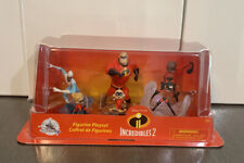 The Incredibles 2 Disney Pixar Deluxe 10 PVC Play Set Figurine Brand New In Box